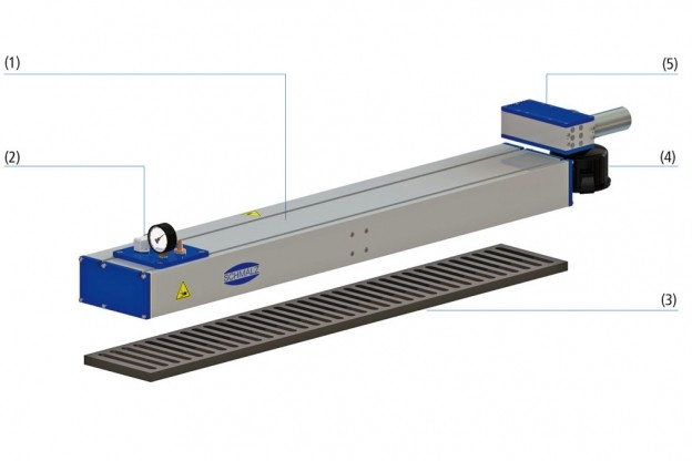 VACUUM AREA GRIPPING SYSTEMS AND END EFFECTORS SBX-C WITH EJECTOR PGE-04547-350-203