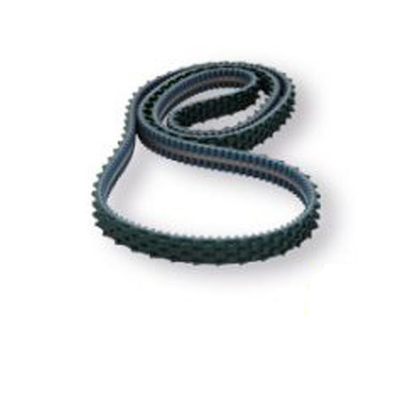 COATED TIMING BELTS WITH SAWTOOTH PROFILE AND INTEGRATED V-GUIDE